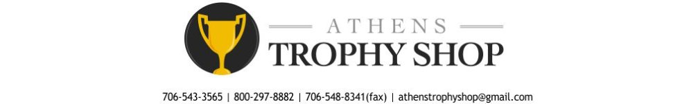Athens Trophy Shop - acrylic awards, crystal awards, cup trophies, perpetual plaques, baseball trophies, football trophies, soccer trophies, corporate plaques, recognition plaques, glass awards, gifts, clocks, corporate awards, athens, ga, georgia